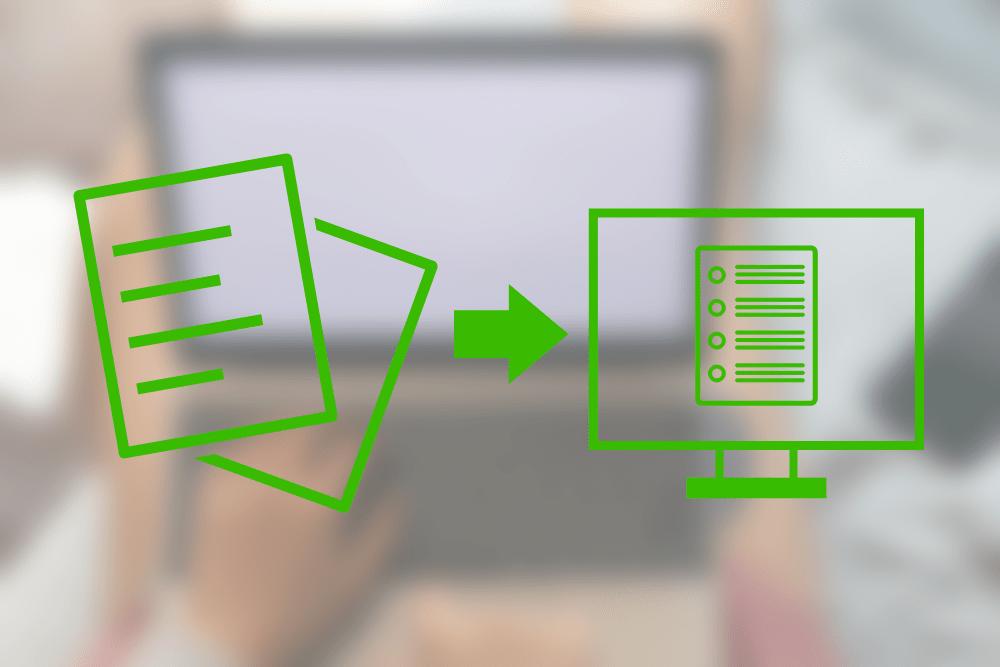 紙データのデジタル化対応